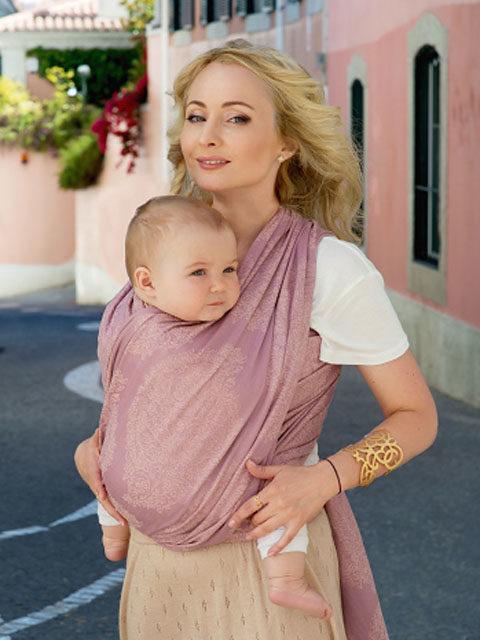 Слинг-шарф для новорожденного, слинг переноска для ребёнка с 0 до 3-х лет Ellevill Diva Essenza Antico, image 1