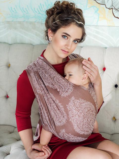 Слинг-шарф для новорожденного, слинг переноска для детей с 0 до 3-х лет Ellevill Diva Essenza Moka, image 1