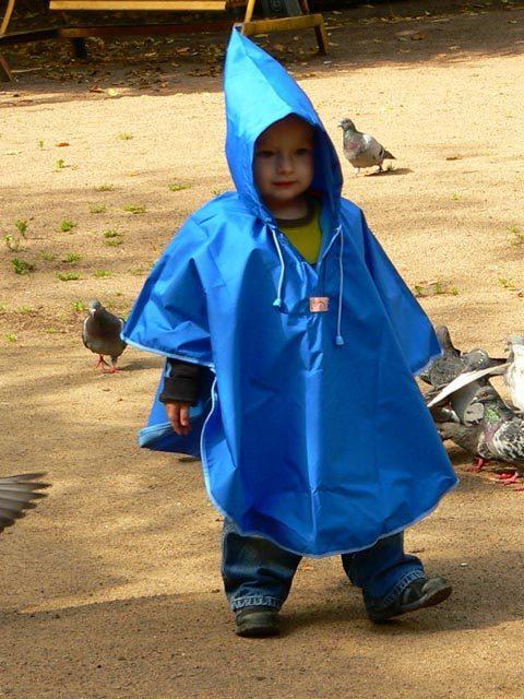 Дождевик детский пончо синий, image 2