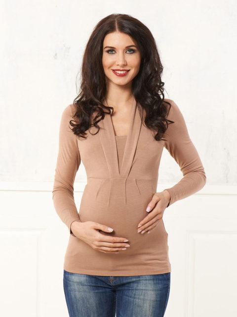 Блуза для беременных и кормящих Тревиоло беж B1548-1, image 1