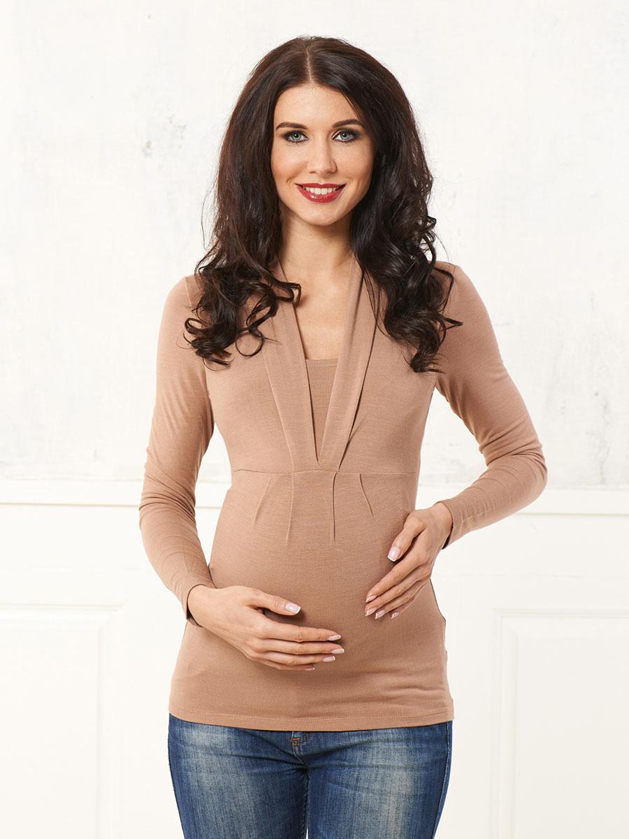 6a55f7165b7a Купить блузу для беременных и кормящих Тревиоло беж - одежда для ...