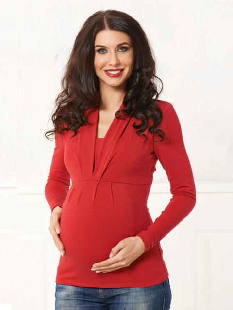 Блуза для беременных и кормящих Тревиоло красный B1548, image 1