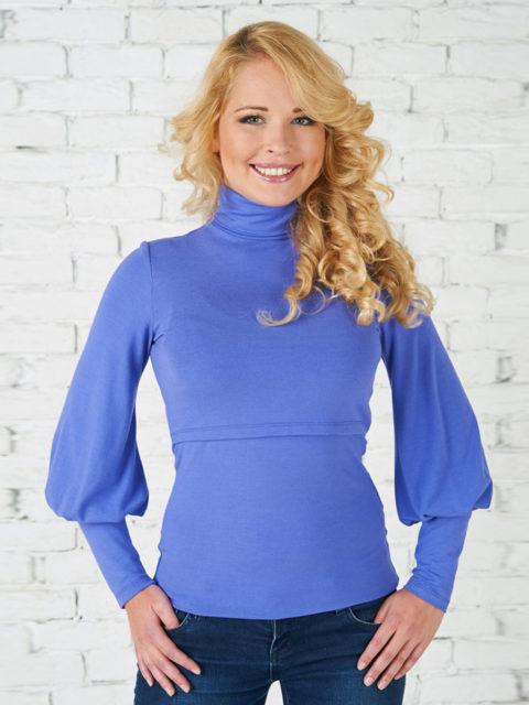 Блуза для кормящих мам Гарленда голубой B1274-3, image 1
