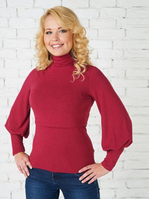 Блуза для кормящих мам Гарленда бордо B1274-4, image 1