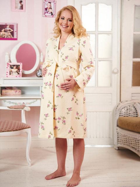 Халат для беременных и кормящих Фиано, халат в роддом B1329 bambinomania, image 1