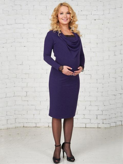 Платье для беременных и кормящих мам Кампелло фиолет B1283-1 bambinomania, image 1