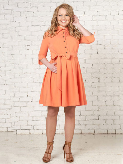 Платье для беременных и кормящих мам Одежда для кормления платье Вивероне оранж B1519 bambinomania, image 3