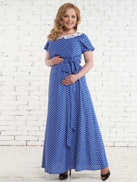Платье для беременных и кормящих мам Совичилле голубое B1521-1 image 1