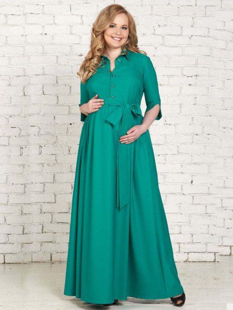Платье для беременных и кормящих мам Лонато изумруд B1513-1 image 1