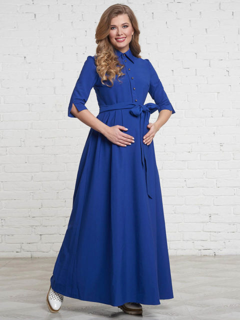 Платье для беременных и кормящих мам Лонато ирис B1513 image 1