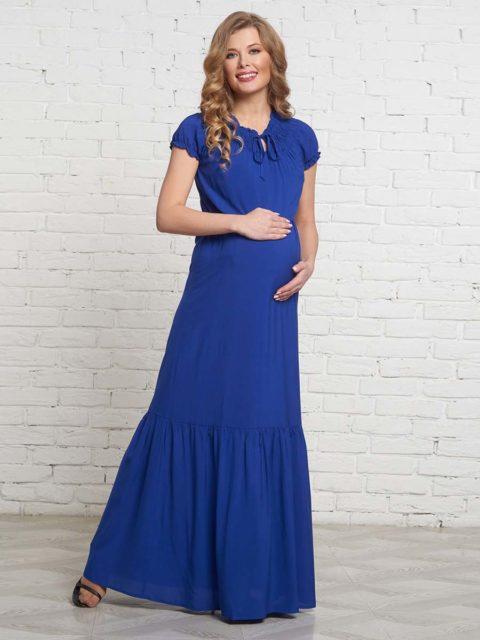 Платье для беременных и кормящих мам Санремо ирис B1531-2 image 1