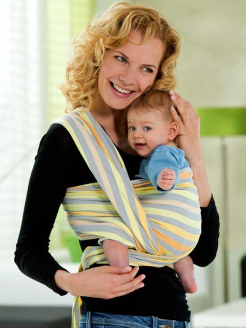 Слинг шарф для новорожденных Amazonas Saffron