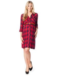 7cb40e3b2eac Платье-рубашка прекрасно подойдет на жаркий летний сезон. Выбирайте платья-рубашки  для беременных со свободным кроем и из натуральных тканей