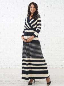 e8c16d6f39fb Платья из трикотажа для беременных можно носить на любом сроке беременности,  поскольку ткань отлично тянется. Такие платья хорошо смотрятся, а беременная  ...