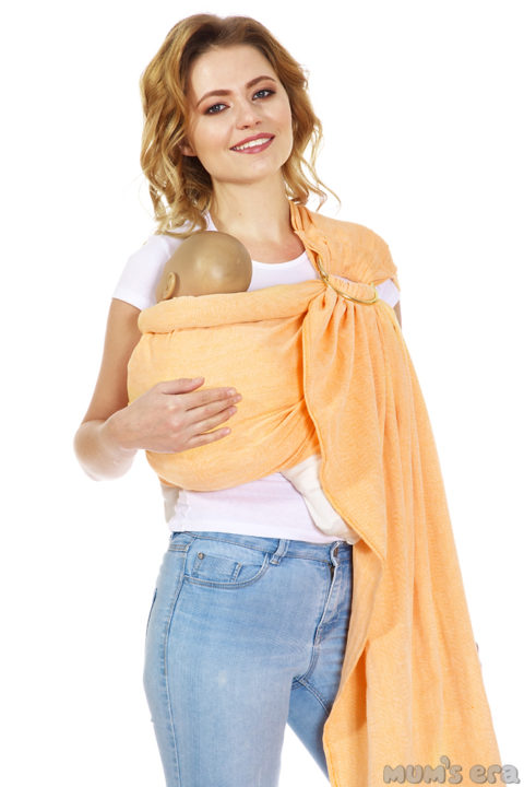 слинг для новорожденных «Нидл», оранж