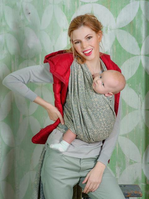 Слинг-шарф для новорожденных Diva Basico Damasco-img1