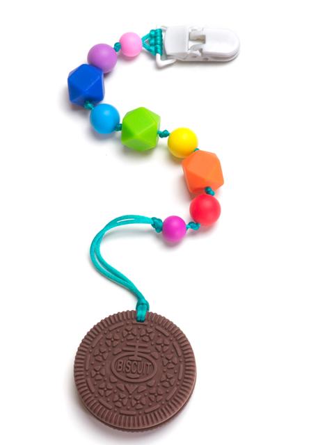 Силиконовый грызунок Печенька на радужном держателе Image1, прорезыватели для зубов