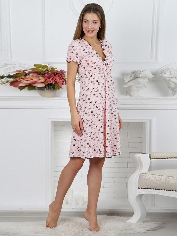 3aef7ac14a69 Сорочка в роддом для беременных Kelly кофе - ночные сорочки для ...
