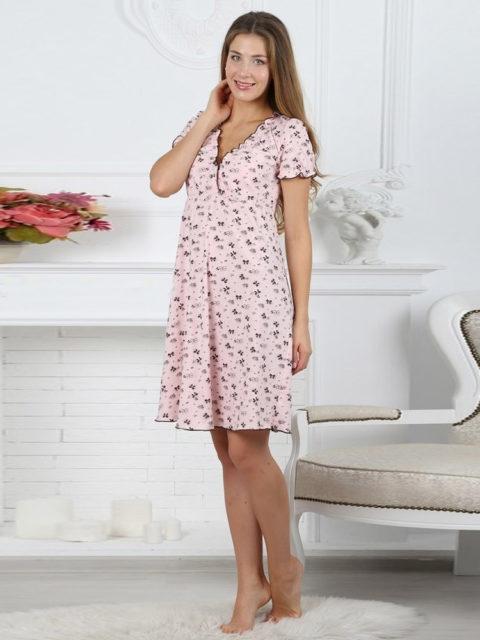 Сорочка в роддом для беременных, сорочка в роддом для кормящих, Kelly кофе image3