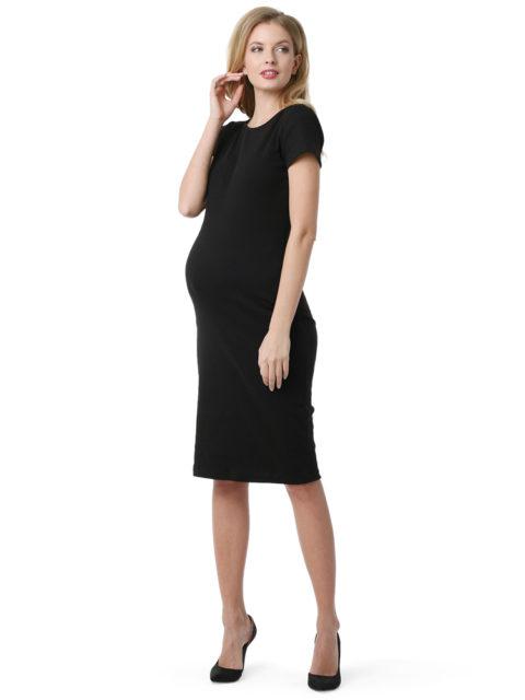 Платье для беременных для офиса Одри черное-img1