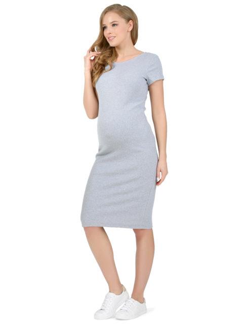 Платье для беременных трикотажное Одри меланж-img1