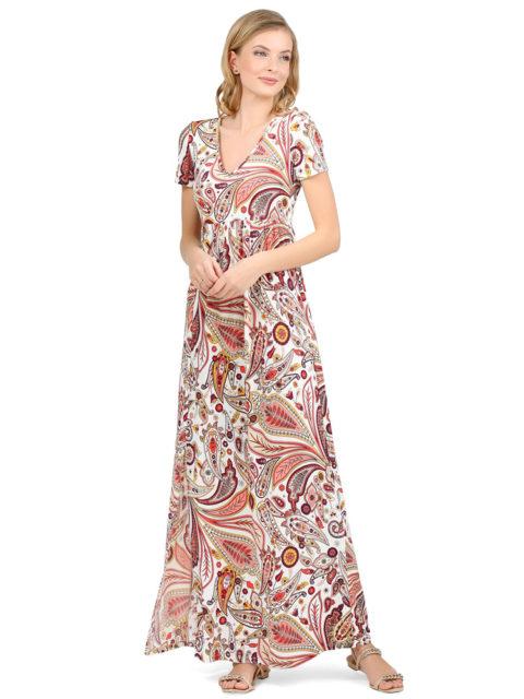 Платье для беременных коралловое/белое Титана коралл-img1
