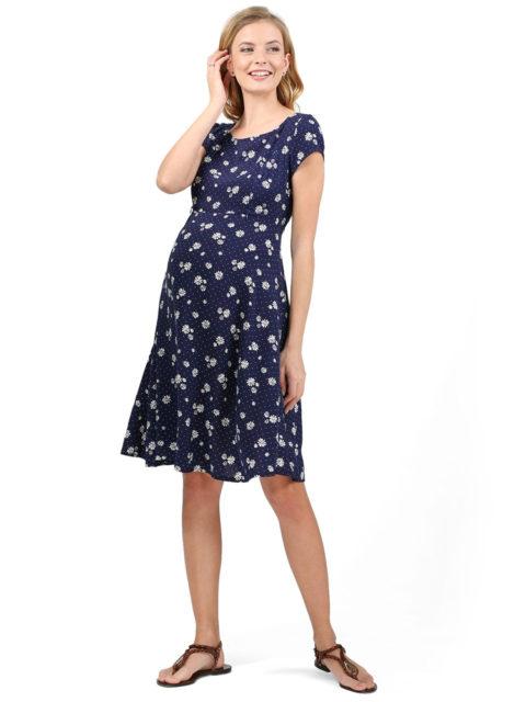 Платье для беременных, платье для кормящих мам Магнолия синее-img3