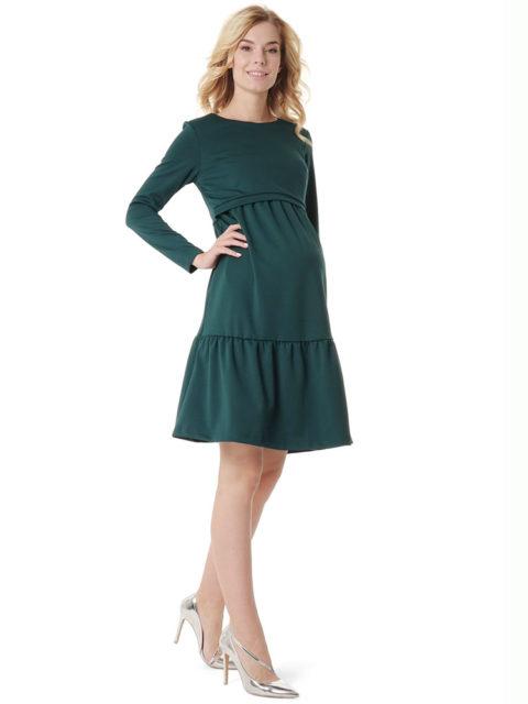 Платье для беременных Фиалка зеленое image1