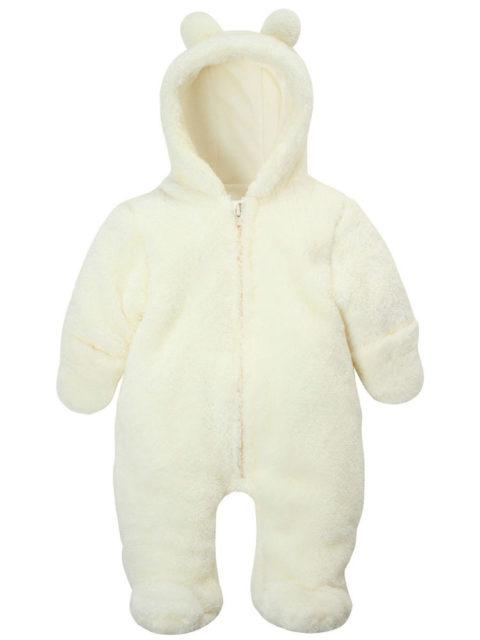 Комбинезон для новорожденных Плюшевый мишка молочный, image1