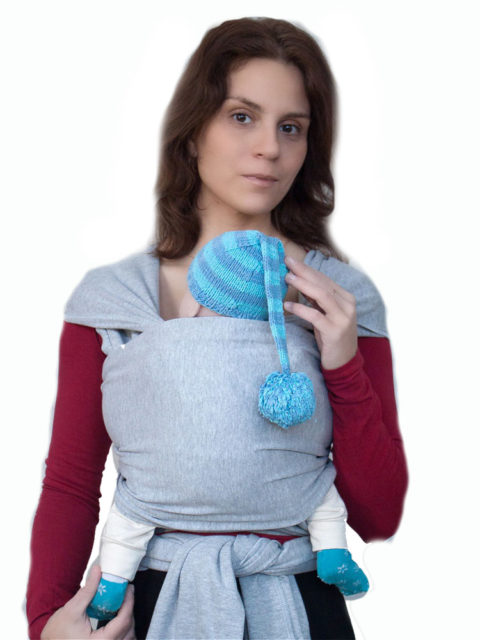 Трикотажный слинг шарф для новорожденных Карауш меланж, image1