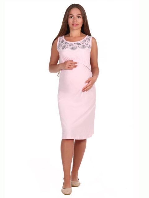 Ночная сорочка в роддом для беременных и кормящих мам 8.06 Сильвия розовый images1