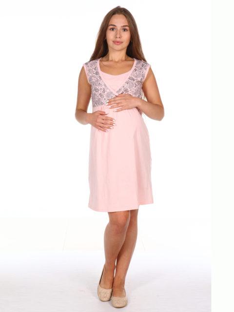 Ночная сорочка в роддом для беременных и кормящих мам 8.40 Паулина розовый images1