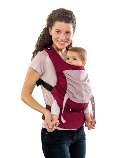 Эрго-рюкзак для новорожденных, слинг-рюкзак Amazonas Smart Carrier Bordeaux image3