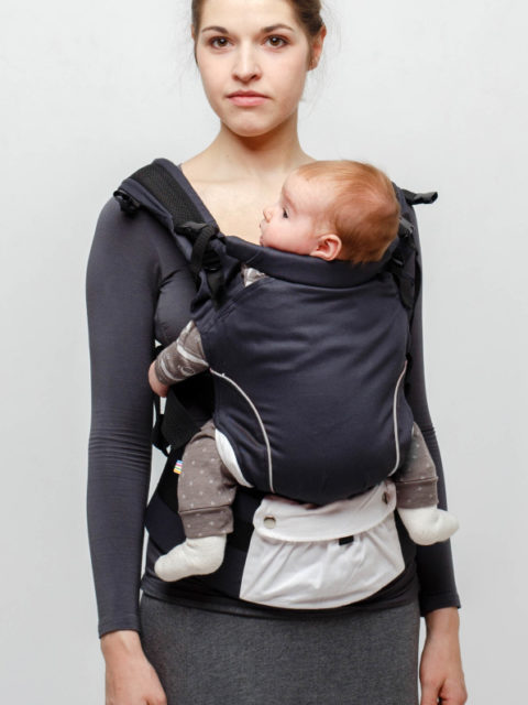 Эрго-рюкзак с 3 месяцев, слинг-рюкзак Rumes Гематит белый image2