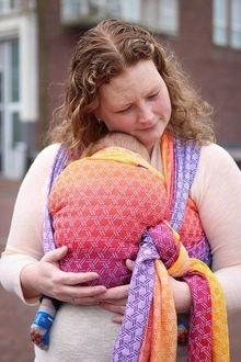 Слинг-шарф для новорожденных Yaro Basket Fire Grad image3