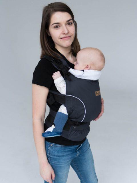Эрго-рюкзак с 3 месяцев, слинг-рюкзак Rumes Графит серый/белый image2
