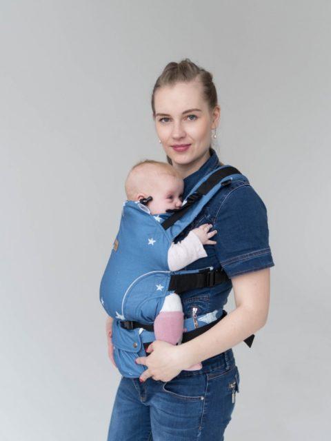 Эрго-рюкзак с 3 месяцев, слинг-рюкзак Rumes Звезды/белый image2