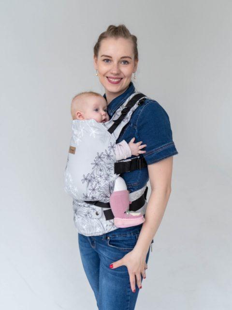 Эрго-рюкзак с 3 месяцев, слинг-рюкзак Rumes Одуванчик/белый image2