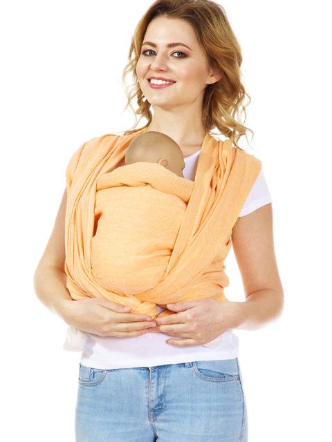 Слинг-шарф для новорожденных «Нидл», long, оранж
