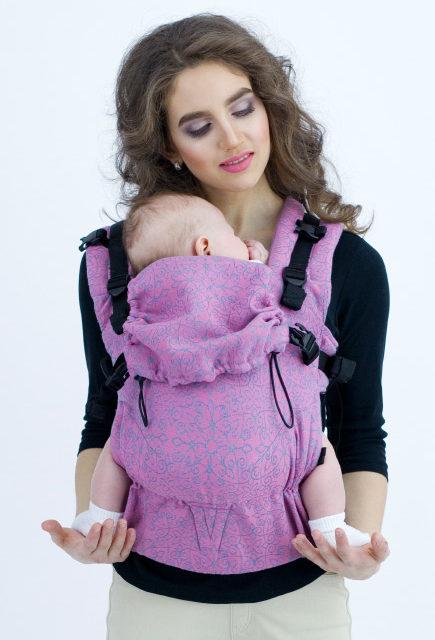 Эрго-рюкзак для новорожденных, слинг-рюкзак Diva Basico One Perla image4