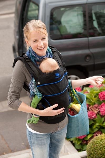 Эрго-рюкзак для новорожденных, слинг-рюкзак Manduca BlackLine Absolute Blue image3