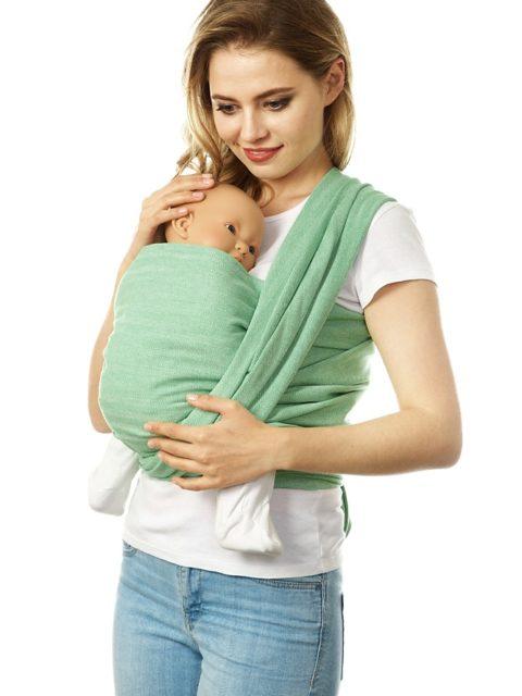 Слинг-шарф для новорожденных «Нидл», long, лайм