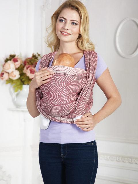Слинг-шарф для новорожденных «Enigma Garnet», long, гранат