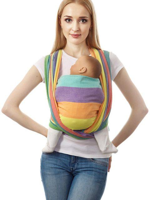 Слинг-шарф «Нидл», long, радуга