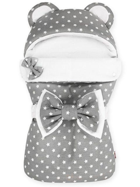 Конверты на выписку для новорожденных «Мишка» серый