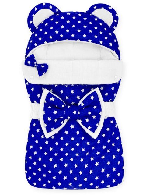 Конверты на выписку для новорожденных «Мишка» звездочка на синем