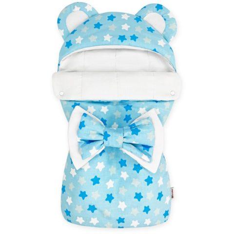 Конверты на выписку для новорожденных «Мишка» Микс голубой,