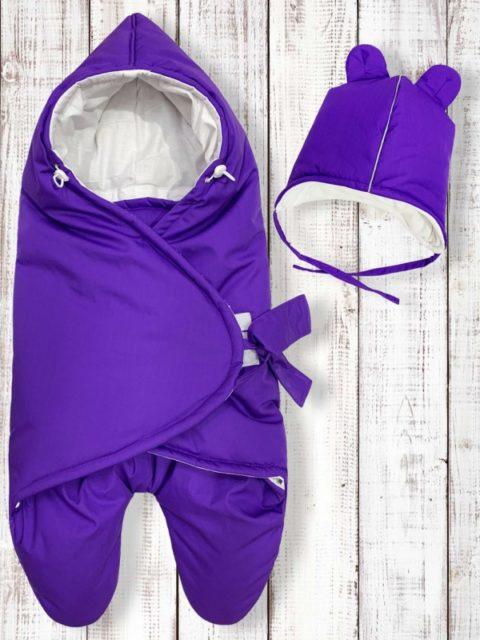 Конверты на выписку для новорожденных «МимиМотик» Lilac,