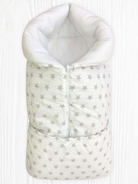 Конверты на выписку для новорожденных «Junior» Звезды на Белом