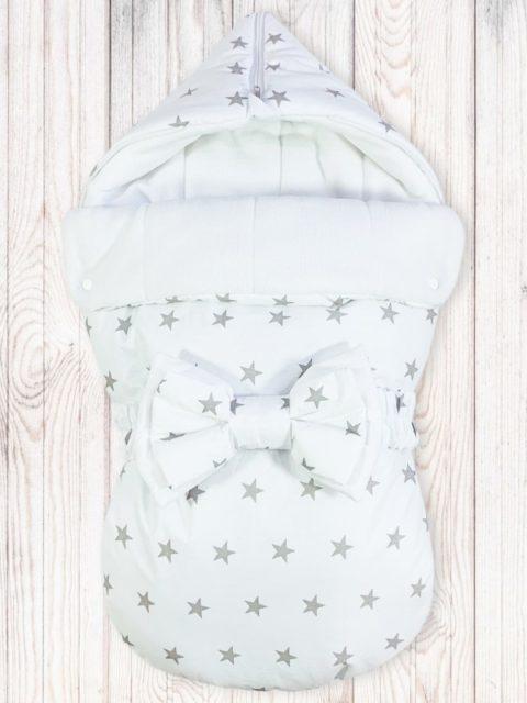 Конверты на выписку для новорожденных «Звезды на белом»